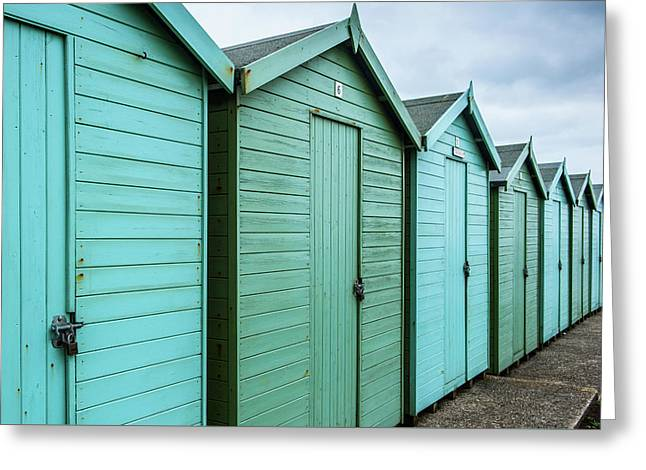Winter Beach Huts IIi Greeting Card