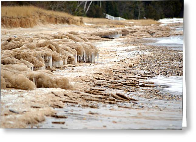 Greeting Card featuring the photograph Winter Beach by SimplyCMB