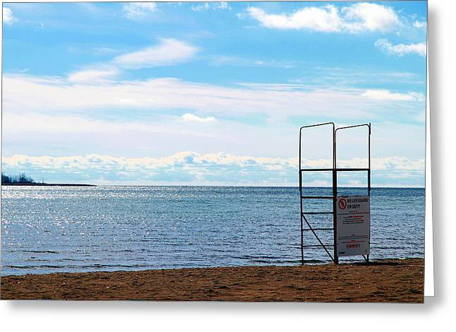 Greeting Card featuring the photograph Winter Beach by Valentino Visentini