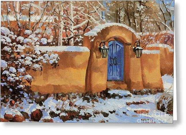 Winter Beauty Of Santa Fe Greeting Card by Gary Kim