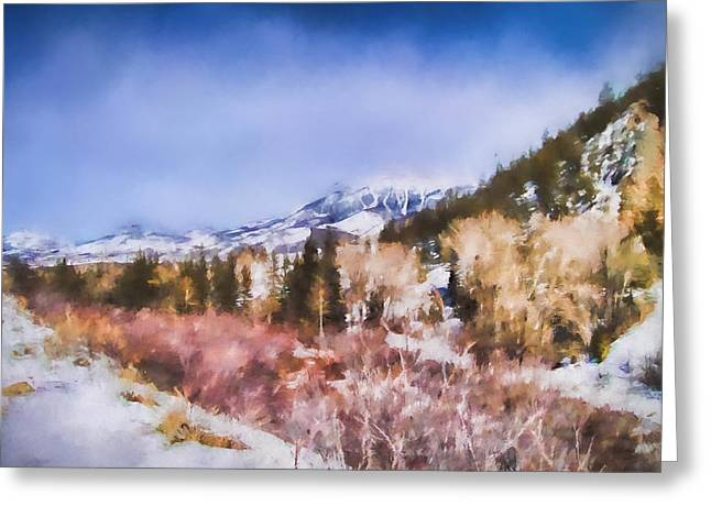 Winter Beginnings In Colorado Landscape Art By Jai Johnson Greeting Card by Jai Johnson