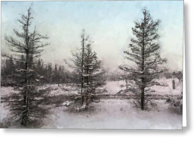 Winter Begins Greeting Card