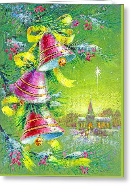 Winter Bells Greeting Card by Stanley Cooke