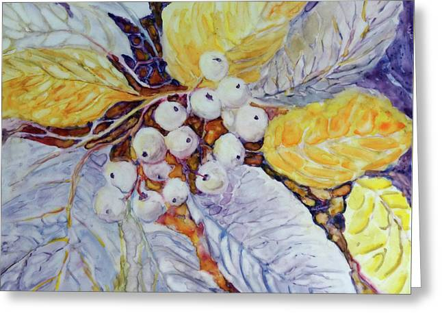 Greeting Card featuring the painting Winter Berries by Joanne Smoley