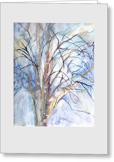 Winter Birch Greeting Card by Claudia Smaletz