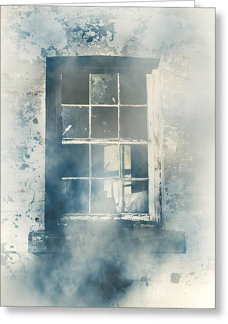Winter Blues And Broken Windows Greeting Card by Jorgo Photography - Wall Art Gallery