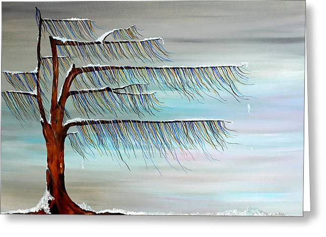 Winter Blues Greeting Card by Andrea Youngman