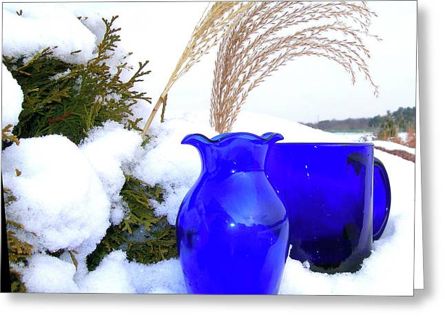 Winter Blues II Greeting Card by Randy Rosenberger