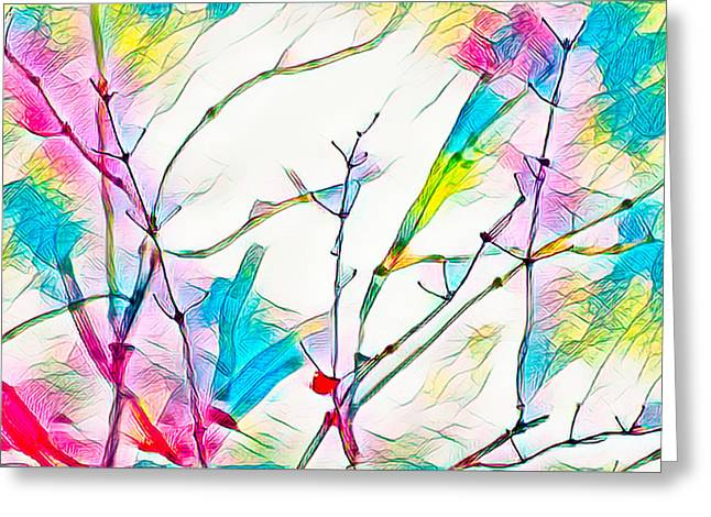 Winter Branch Colors Greeting Card