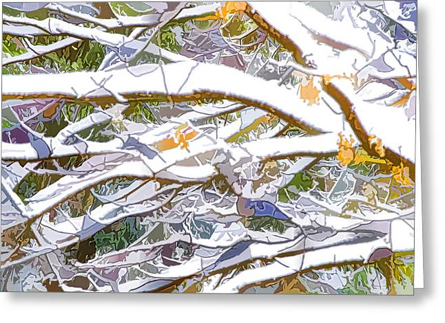 Winter Branches 3 Greeting Card by Lanjee Chee