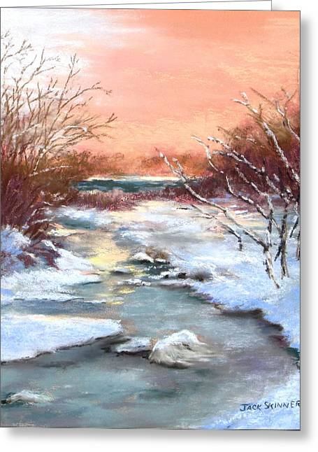 Winter Brook Greeting Card