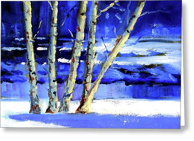 Winter By The River Greeting Card by Nancy Merkle