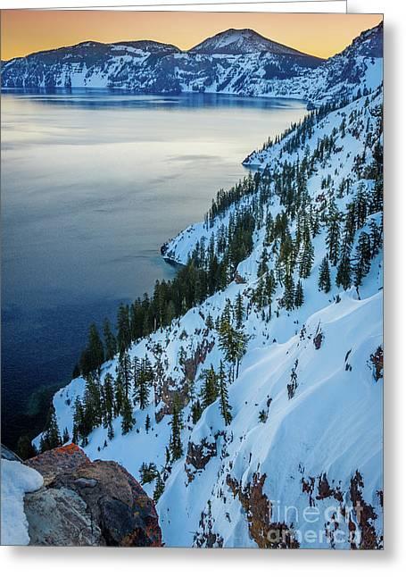 Winter Caldera Greeting Card by Inge Johnsson