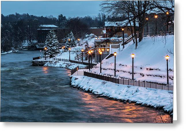 Winter Canal Walk Greeting Card