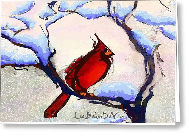 Winter Cardinal Greeting Card