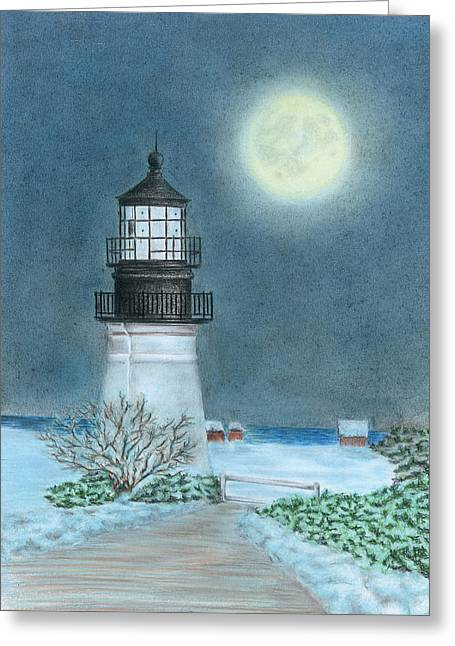 Winter Coast Greeting Card by Troy Levesque