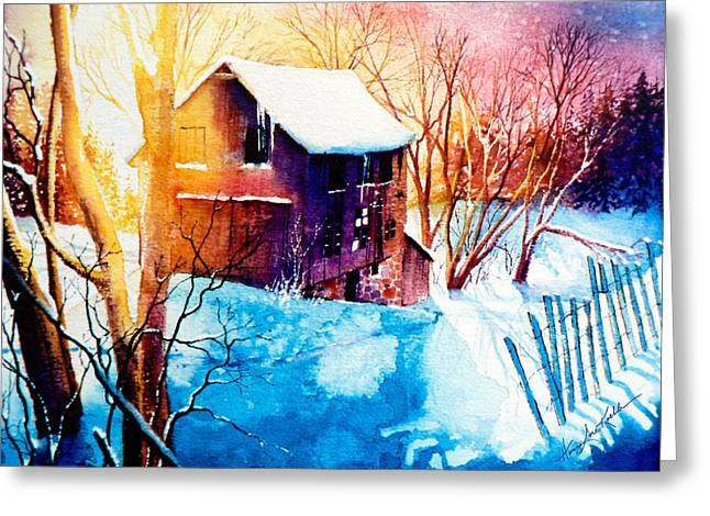 Winter Color Greeting Card by Hanne Lore Koehler