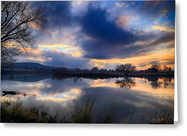 Winter Colors At Sunset Greeting Card
