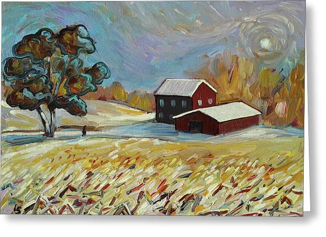 Winter Corn Greeting Card