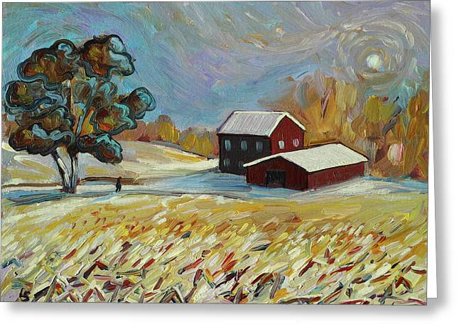 Winter Corn Greeting Card