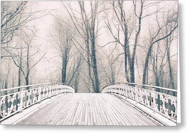 Winter Crossing Greeting Card