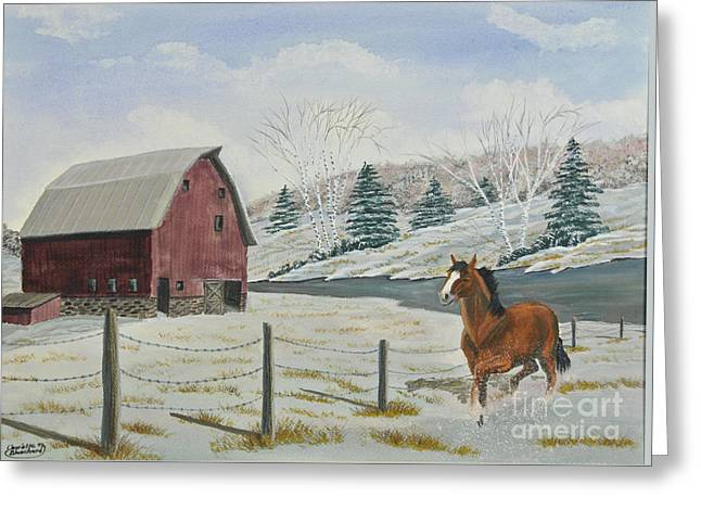 Winter Dance Greeting Card by Charlotte Blanchard