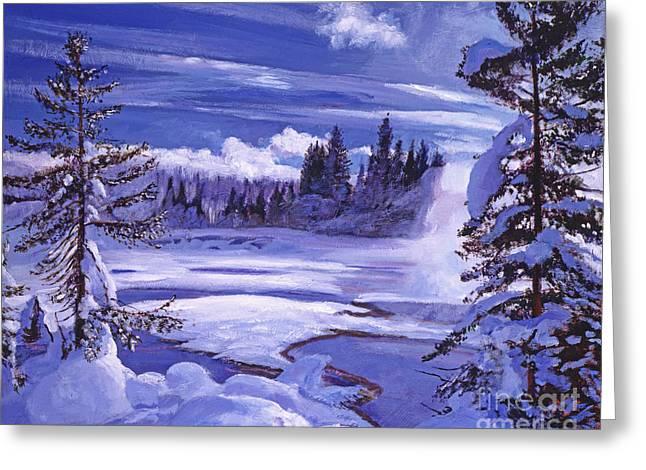 Winter Greeting Card by David Lloyd Glover