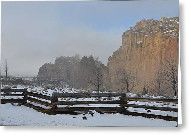 Winter Day Greeting Card by Linda Larson