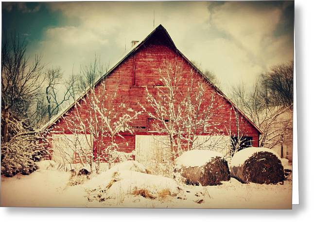 Winter Day On The Farm Greeting Card