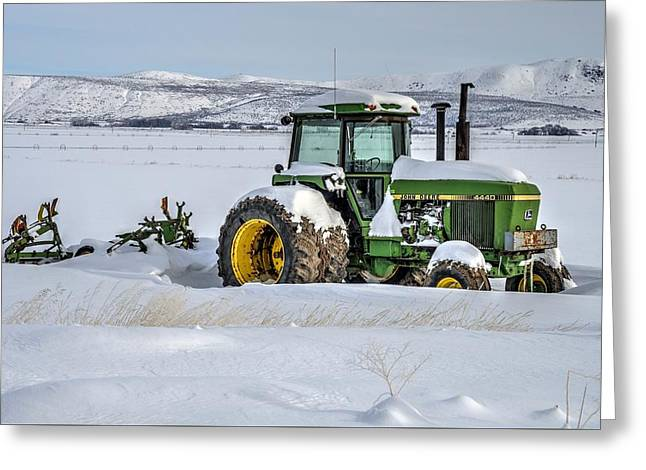 Winter Deere Greeting Card
