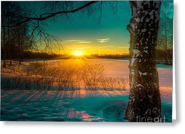 Winter Delight In British Columbia Greeting Card