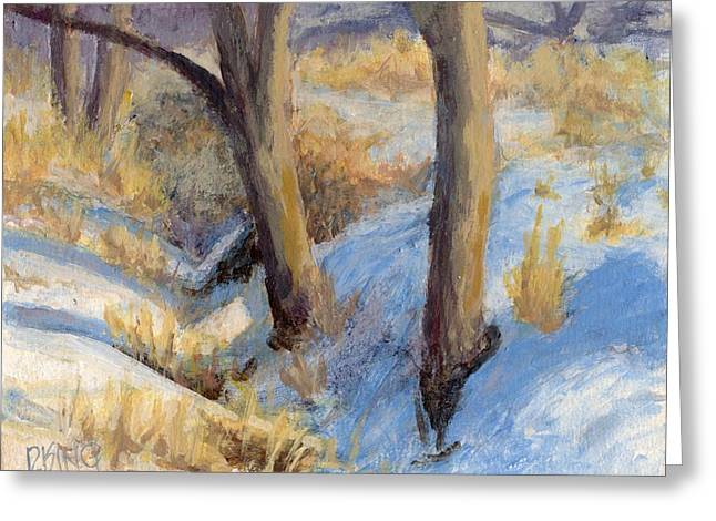 Winter Ditch Greeting Card