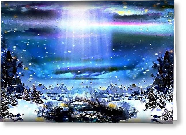 Winter Dream Land Greeting Card