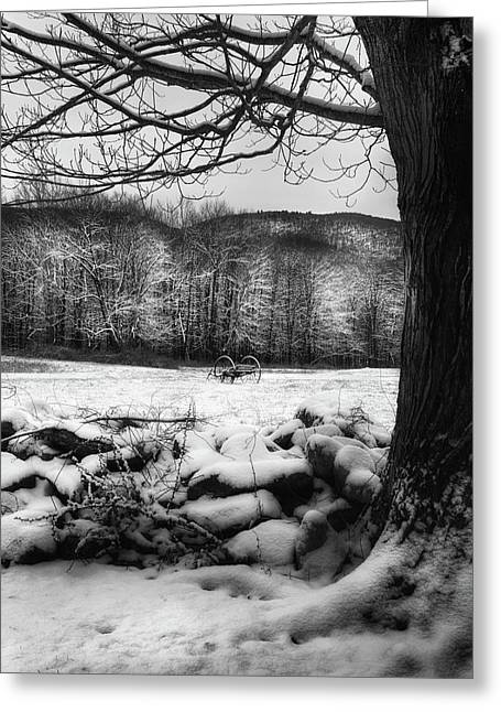 Winter Dreary Greeting Card by Bill Wakeley