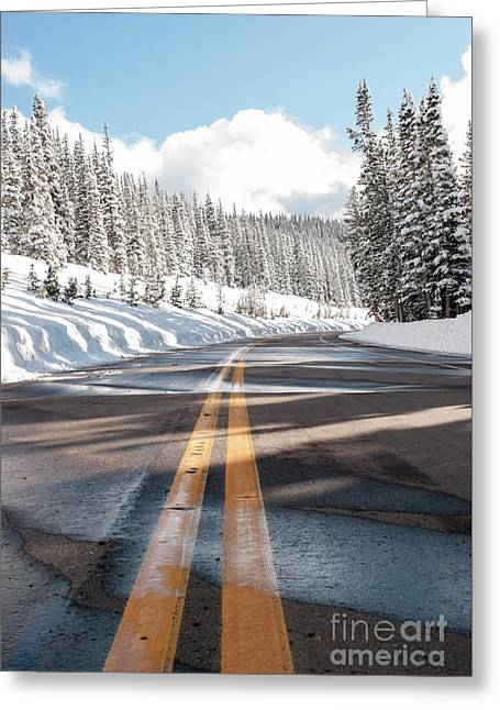 Winter Drive Greeting Card by Juli Scalzi