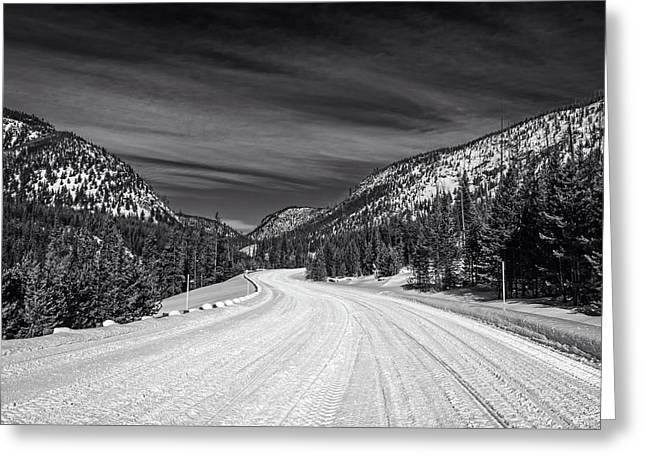 Winter Drive Greeting Card by L O C