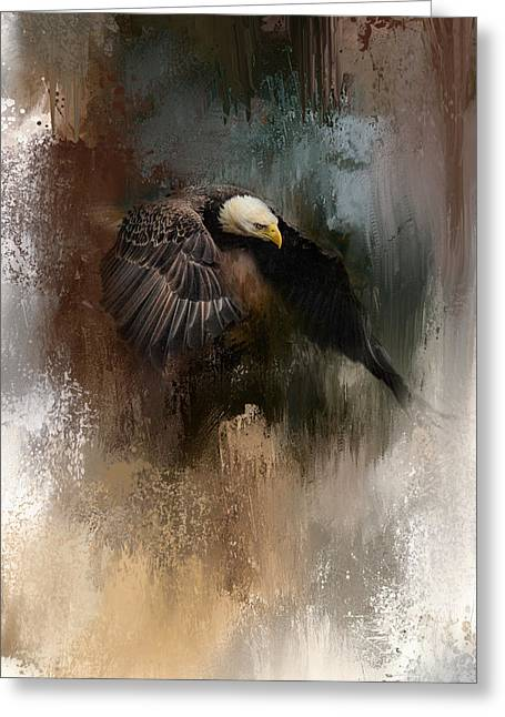 Winter Eagle 2 Greeting Card by Jai Johnson