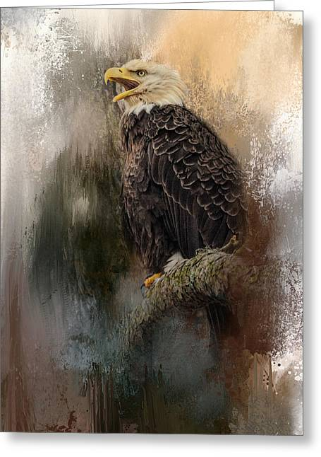 Winter Eagle 3 Greeting Card