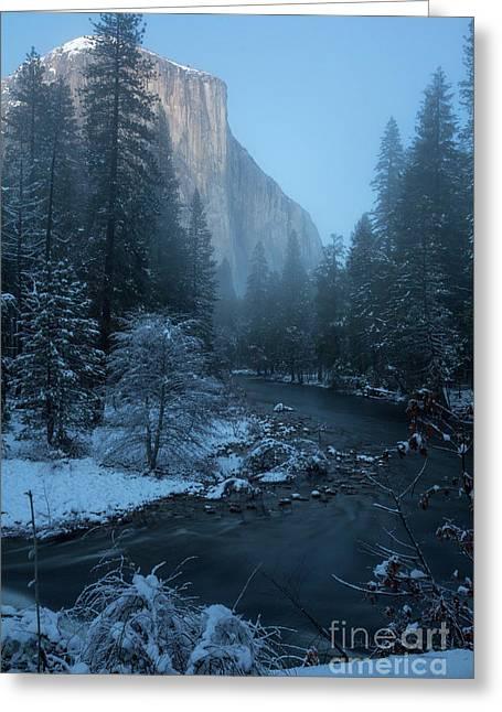 Winter El Cap  Greeting Card