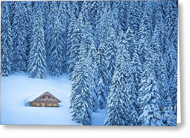 Winter Escape Greeting Card by JR Photography
