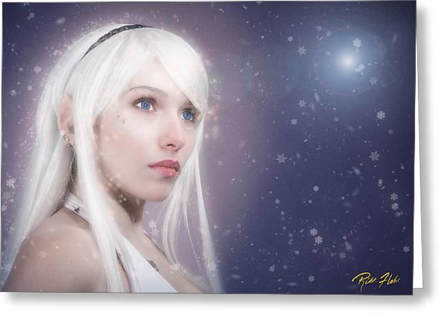 Winter Fae Greeting Card by Rikk Flohr