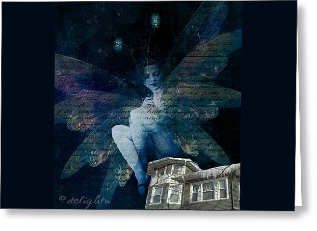 Greeting Card featuring the digital art Winter Fairy by Delight Worthyn