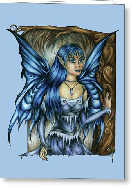 Winter Fairy Drawing Greeting Card
