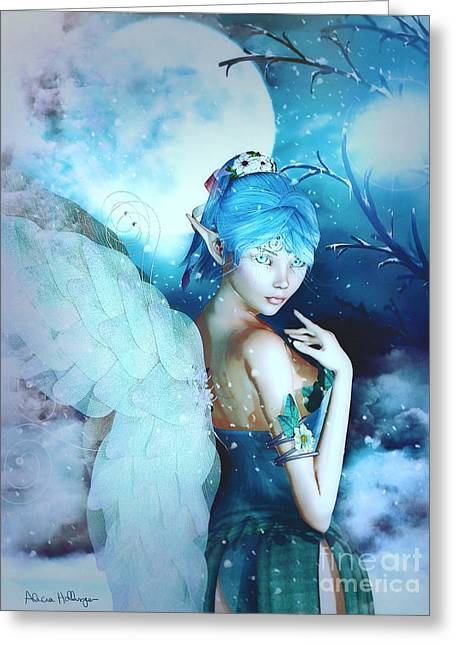 Winter Fairy In The Mist Greeting Card