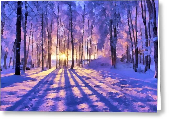 Winter Fairy Tale Greeting Card