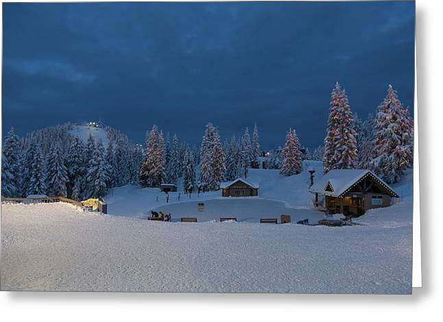 Winter Fairy Tale At Grouse Mountain Greeting Card