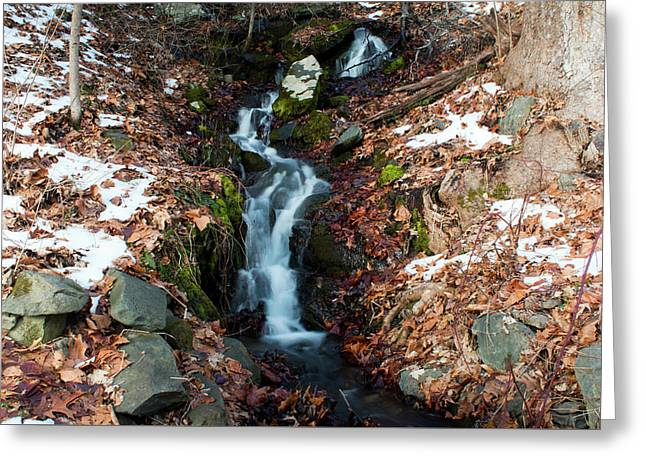 Winter Falls At Franny Reese Greeting Card by Jeff Severson