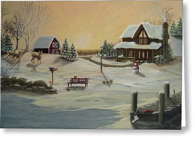 Winter Farm 1 Greeting Card