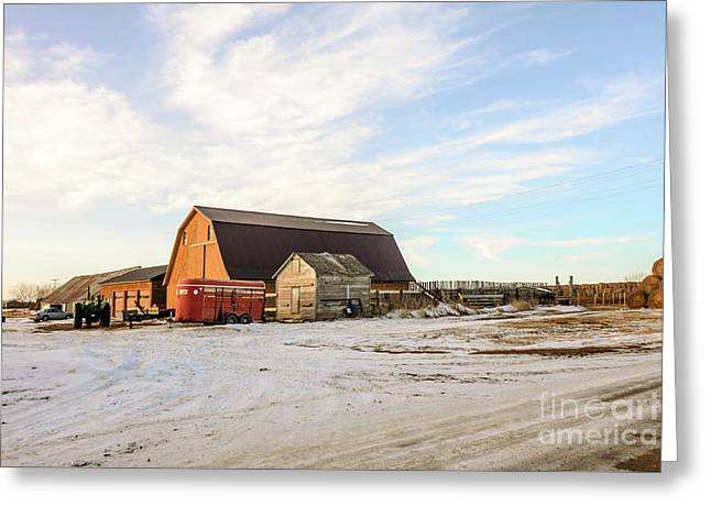Winter Farm Greeting Card