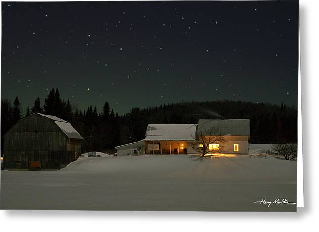Winter Farmhouse Greeting Card